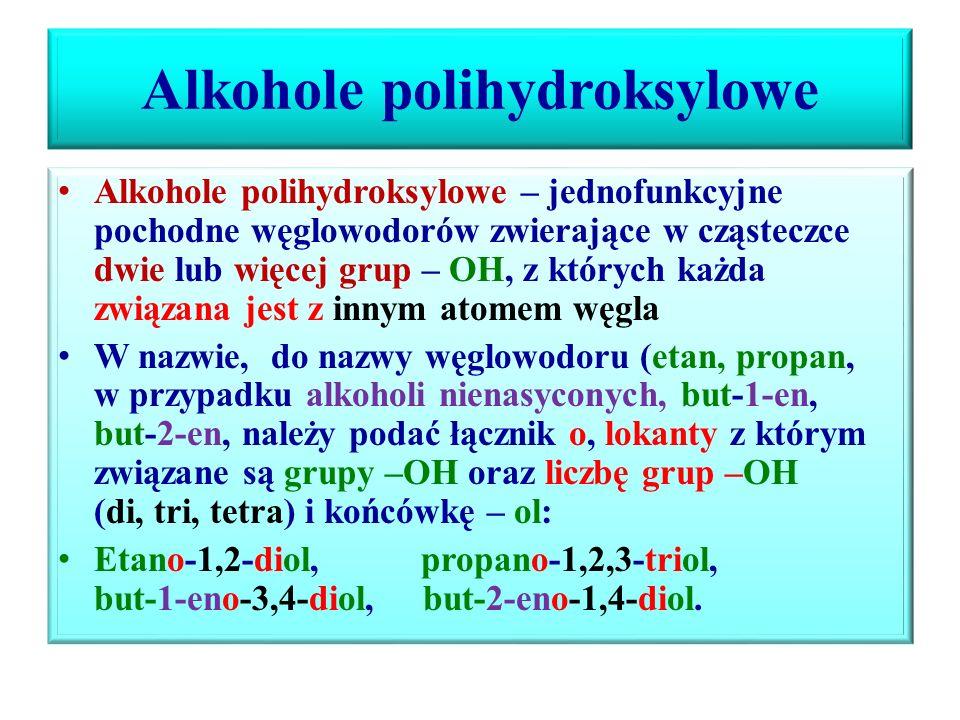 Alkohole polihydroksylowe