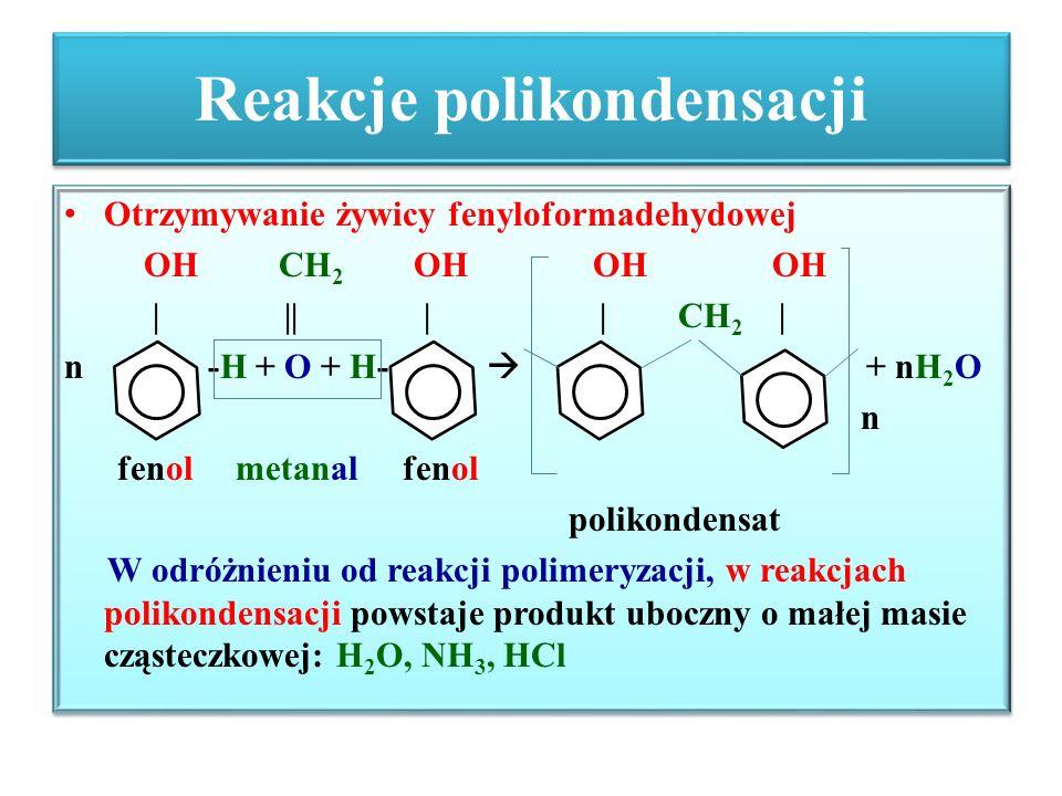 Reakcje polikondensacji