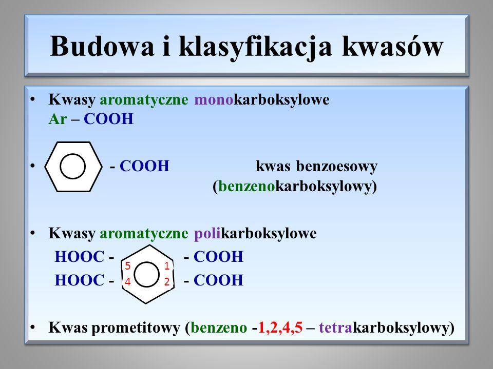 Budowa i klasyfikacja kwasów