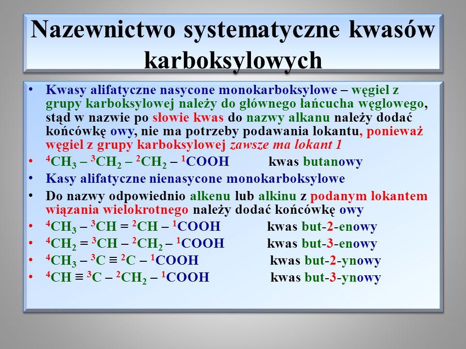 Nazewnictwo systematyczne kwasów karboksylowych