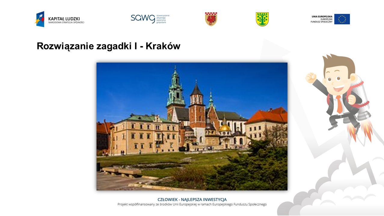 Rozwiązanie zagadki I - Kraków
