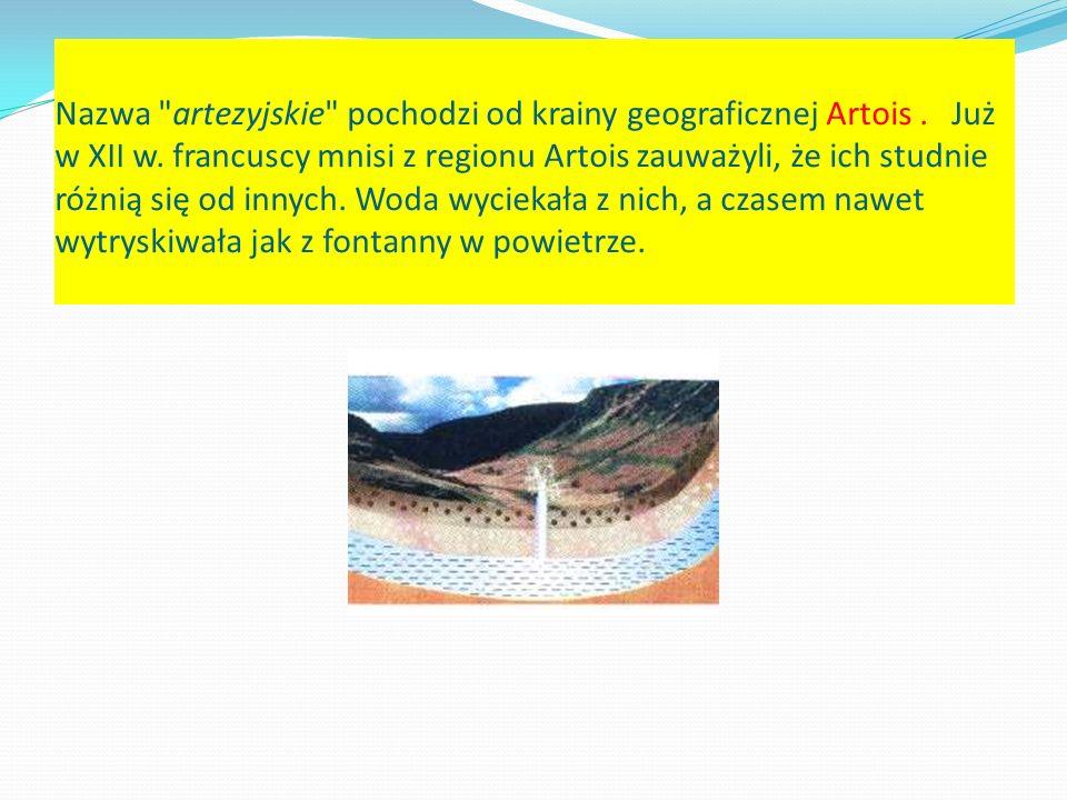 Nazwa artezyjskie pochodzi od krainy geograficznej Artois