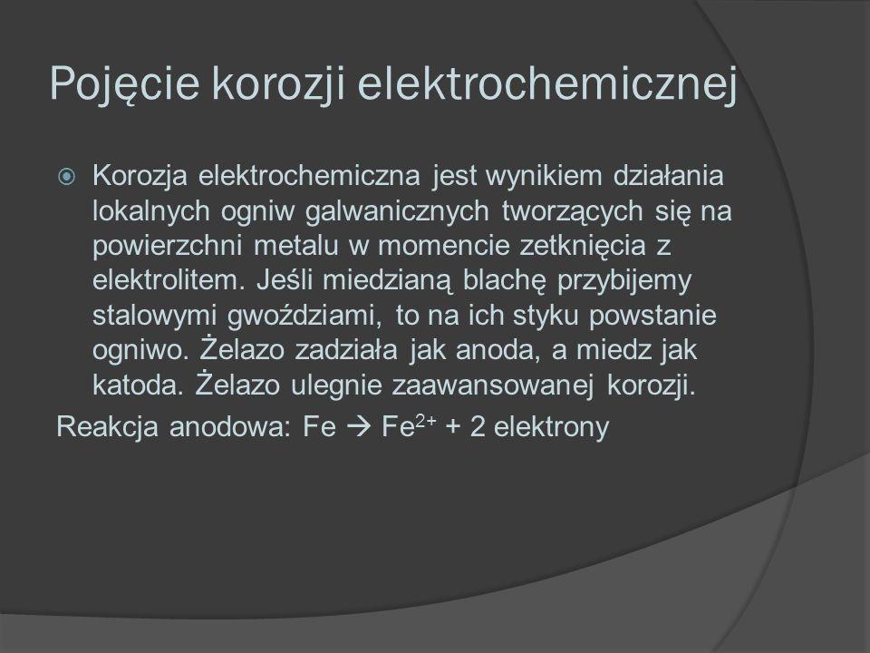 Pojęcie korozji elektrochemicznej