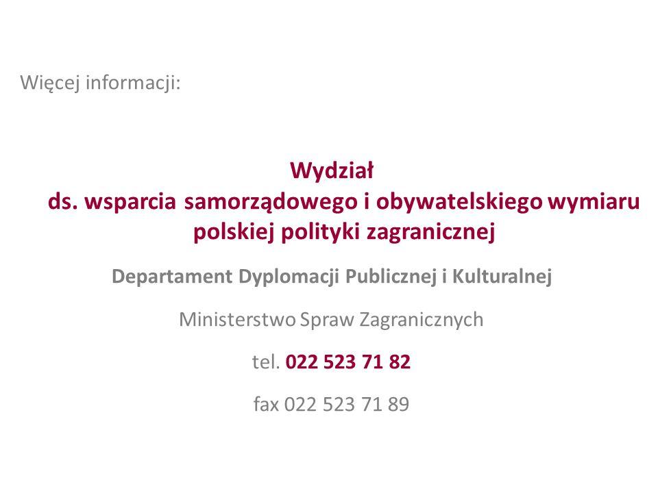 Departament Dyplomacji Publicznej i Kulturalnej
