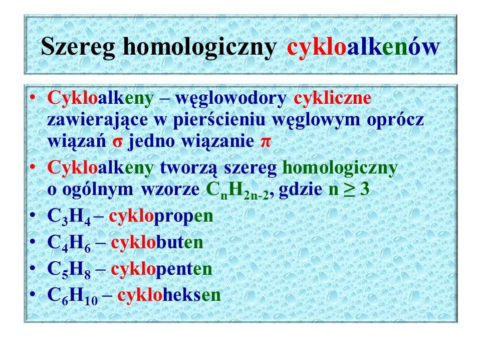 Szereg homologiczny cykloalkenów