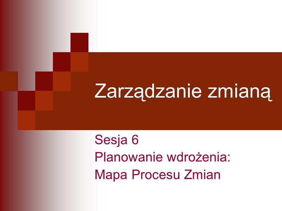 Sesja 6 Planowanie wdrożenia: Mapa Procesu Zmian