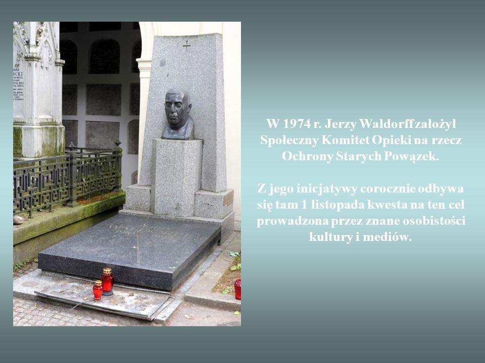 W 1974 r. Jerzy Waldorff założył Społeczny Komitet Opieki na rzecz Ochrony Starych Powązek.