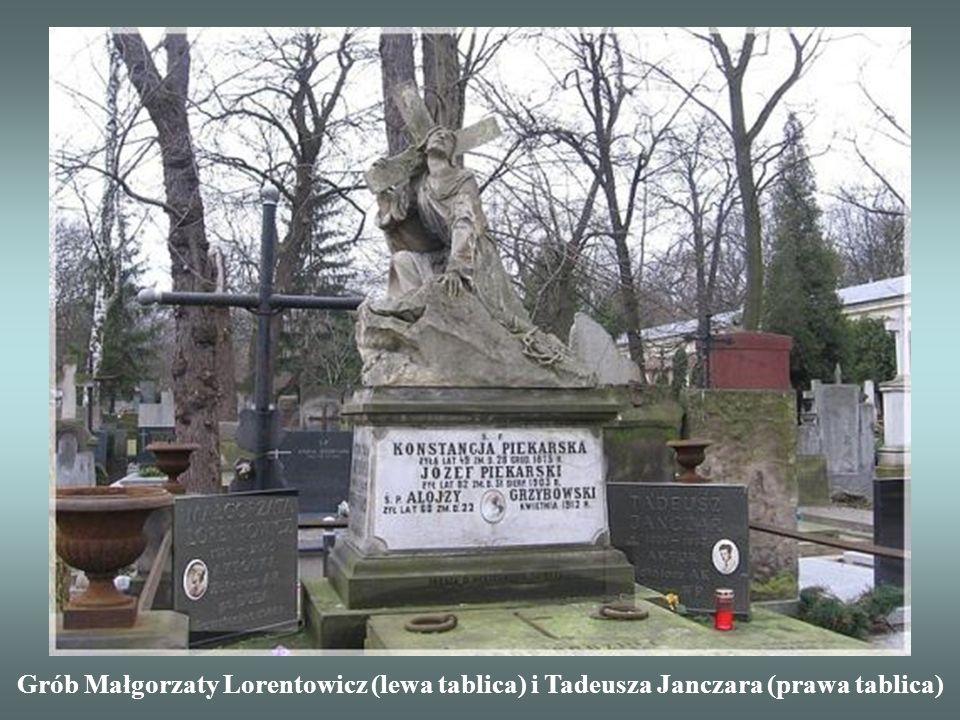 Grób Małgorzaty Lorentowicz (lewa tablica) i Tadeusza Janczara (prawa tablica)