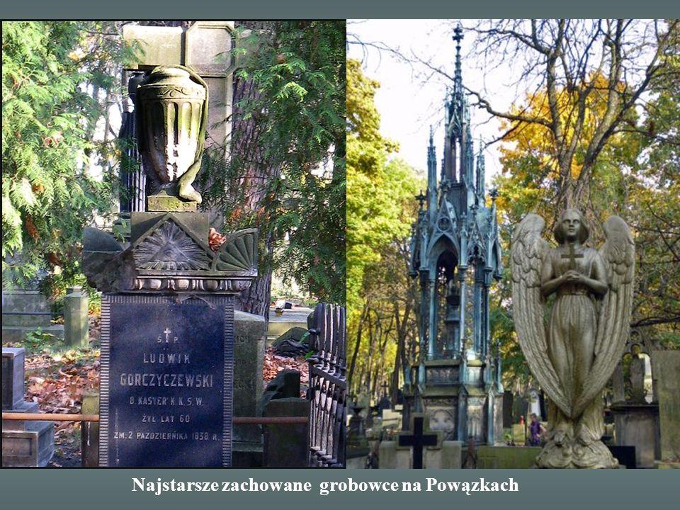 Najstarsze zachowane grobowce na Powązkach