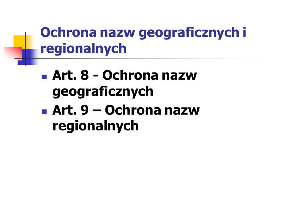 Ochrona nazw geograficznych i regionalnych