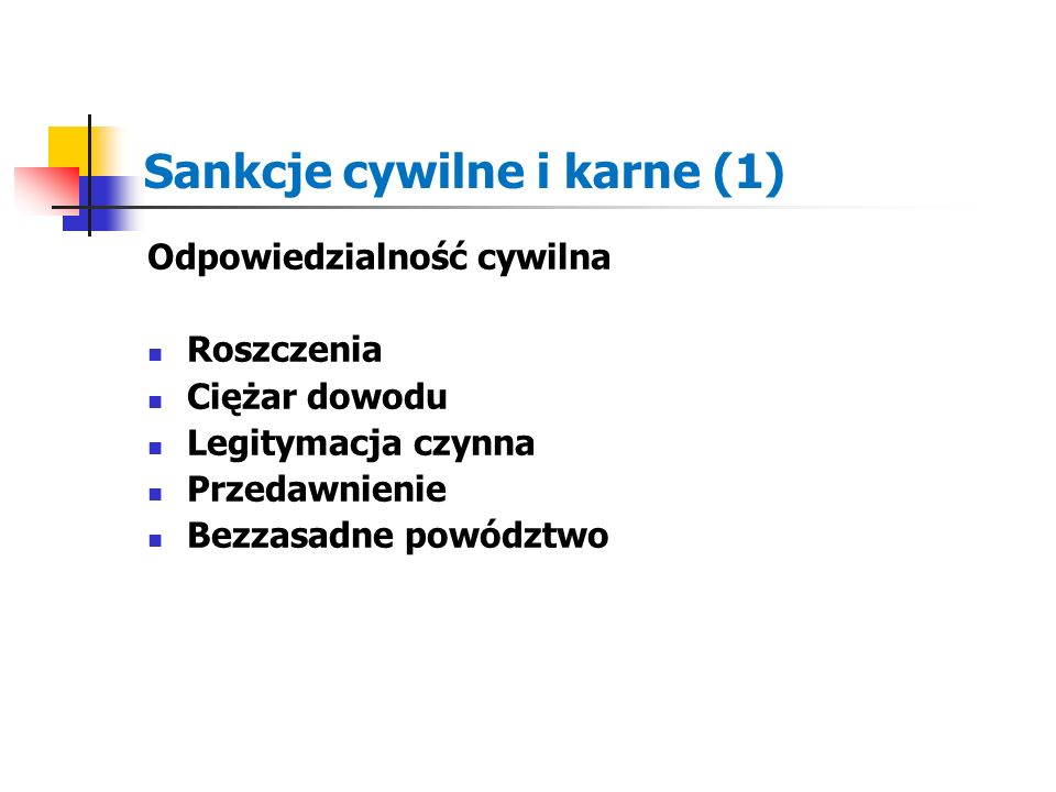 Sankcje cywilne i karne (1)