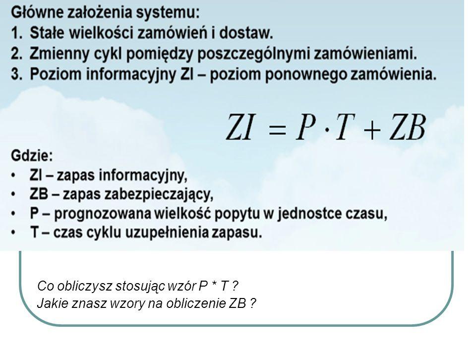 Co obliczysz stosując wzór P * T