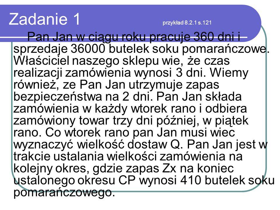 Zadanie 1 przykład 8.2.1 s.121