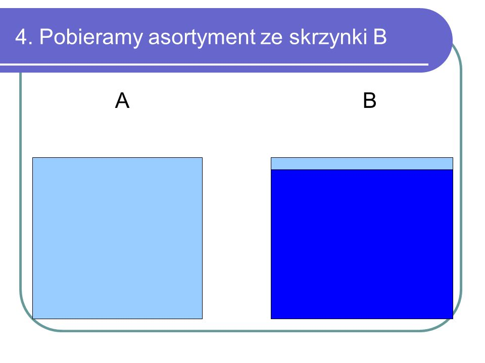 4. Pobieramy asortyment ze skrzynki B