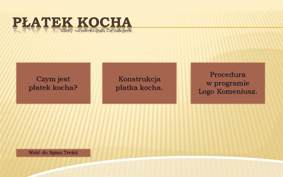 Płatek kocha Procedura w programie Logo Komeniusz.