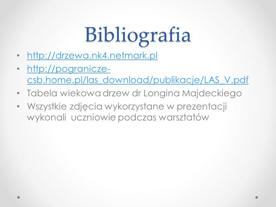 Bibliografia http://drzewa.nk4.netmark.pl