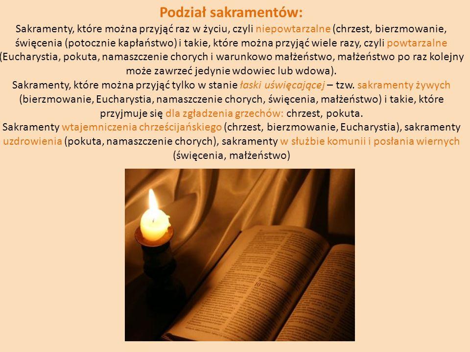 Podział sakramentów:
