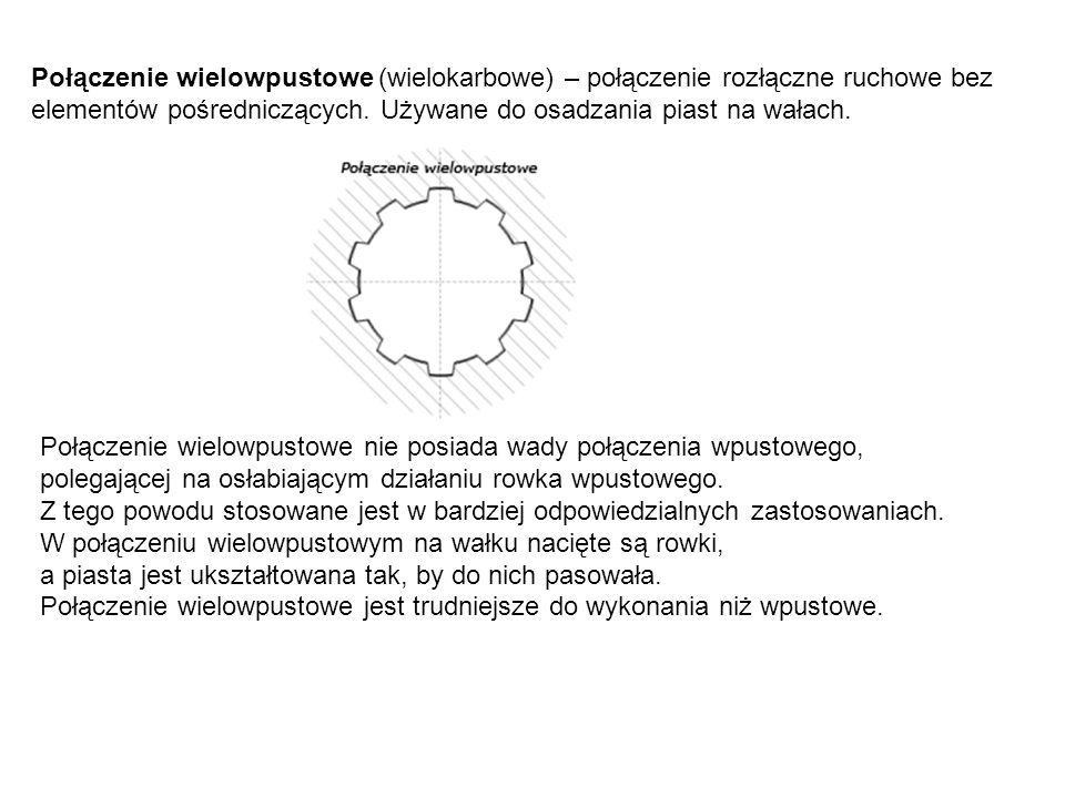Połączenie wielowpustowe (wielokarbowe) – połączenie rozłączne ruchowe bez