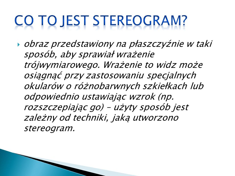 Co to jest stereogram