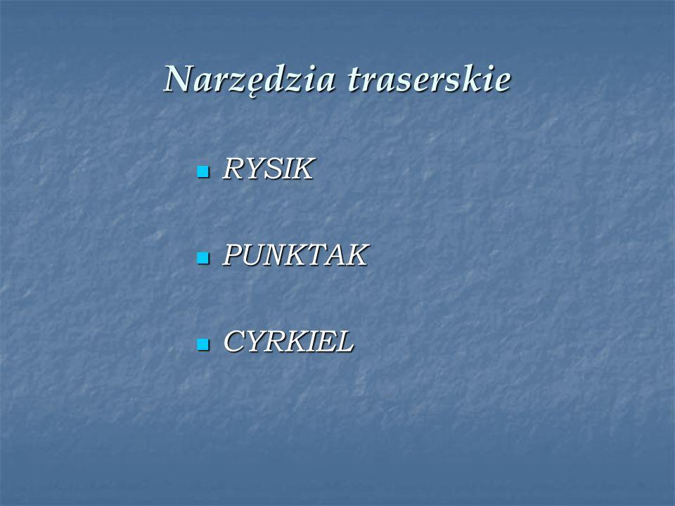 Narzędzia traserskie RYSIK PUNKTAK CYRKIEL