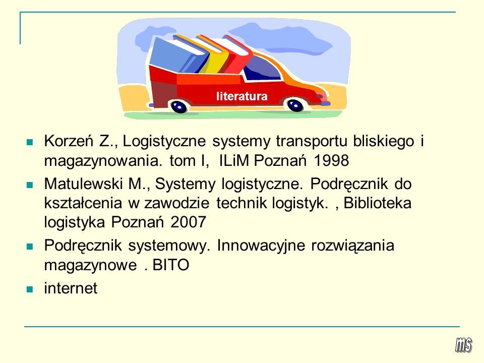 Podręcznik systemowy. Innowacyjne rozwiązania magazynowe . BITO