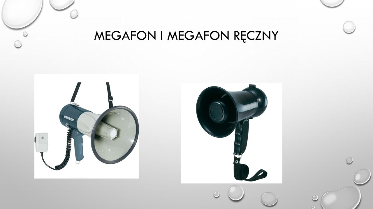 Megafon i Megafon ręczny