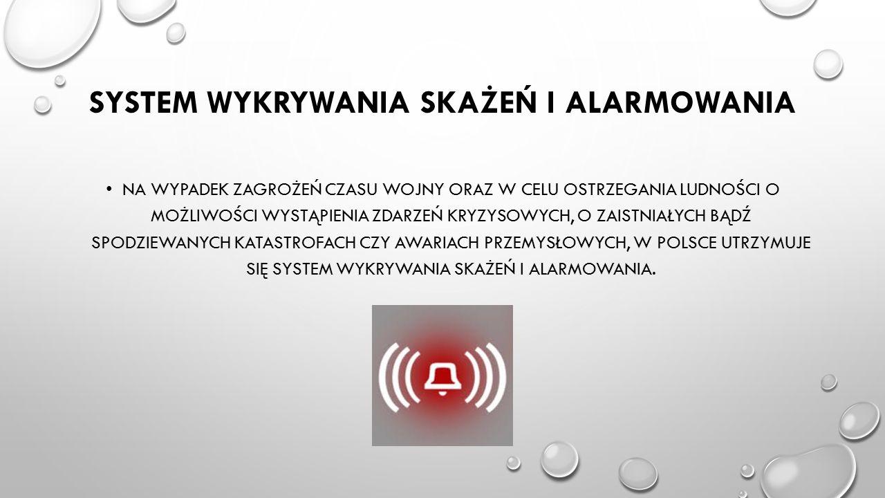 System wykrywania skażeń i alarmowania