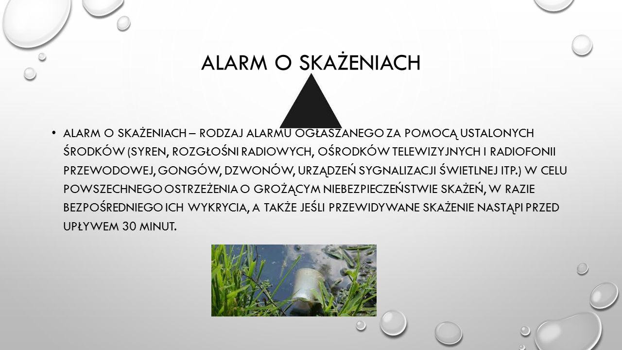 Alarm o skażeniach