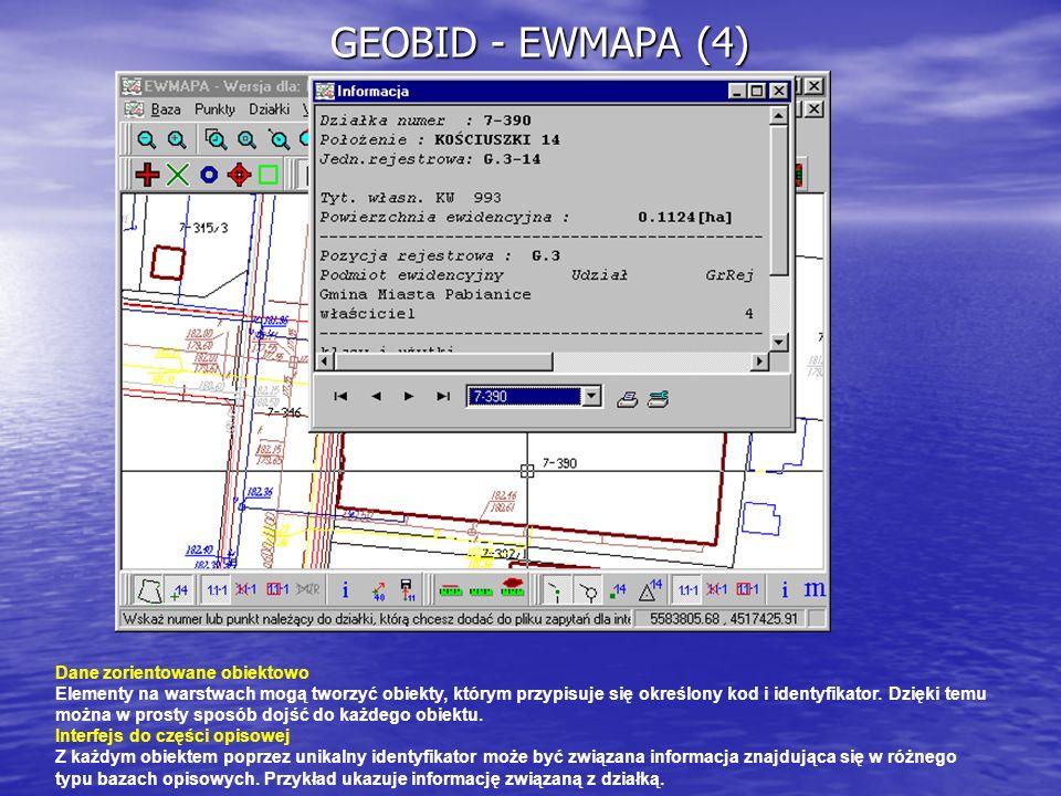 GEOBID - EWMAPA (4) Dane zorientowane obiektowo
