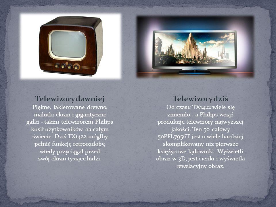 Telewizory dawniej Telewizory dziś