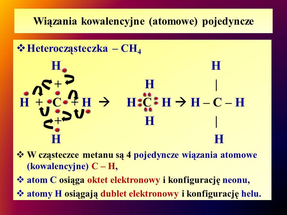 Wiązania kowalencyjne (atomowe) pojedyncze
