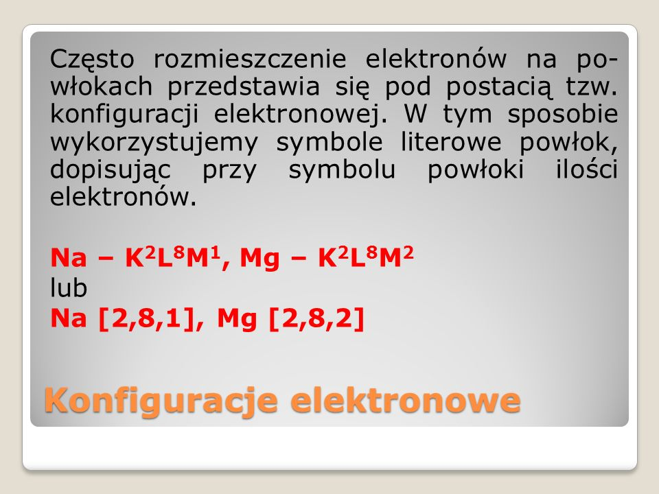 Konfiguracje elektronowe