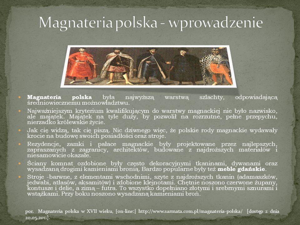 Magnateria polska - wprowadzenie