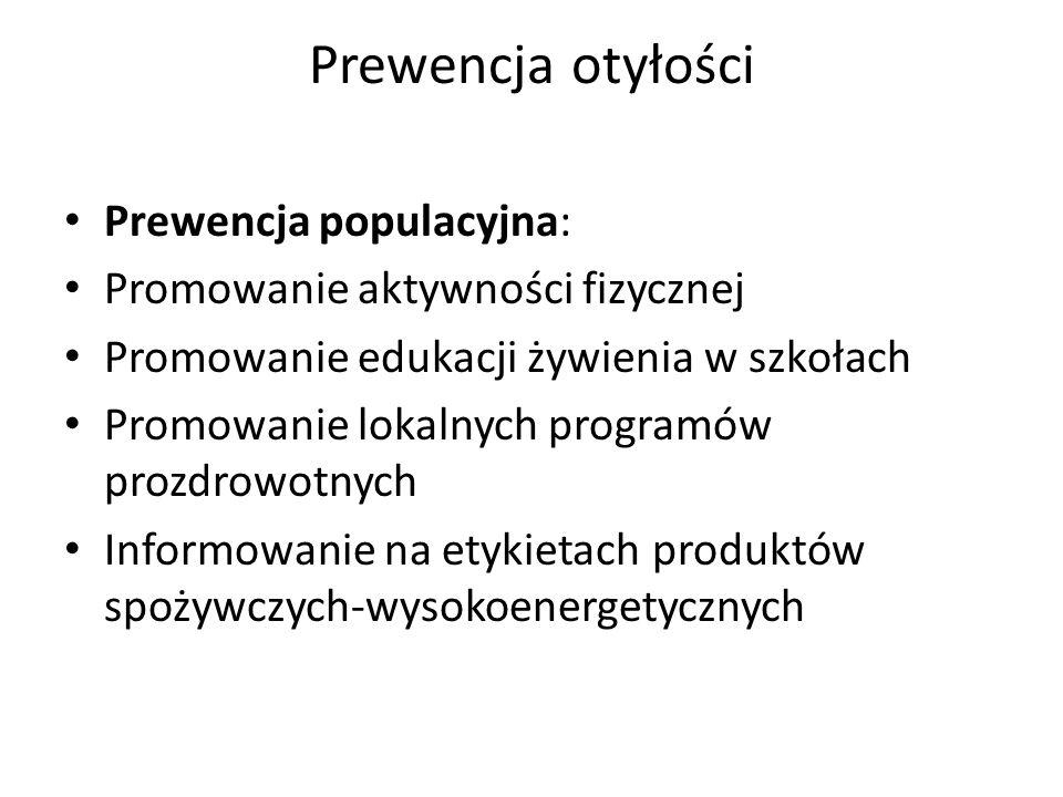 Prewencja otyłości Prewencja populacyjna: