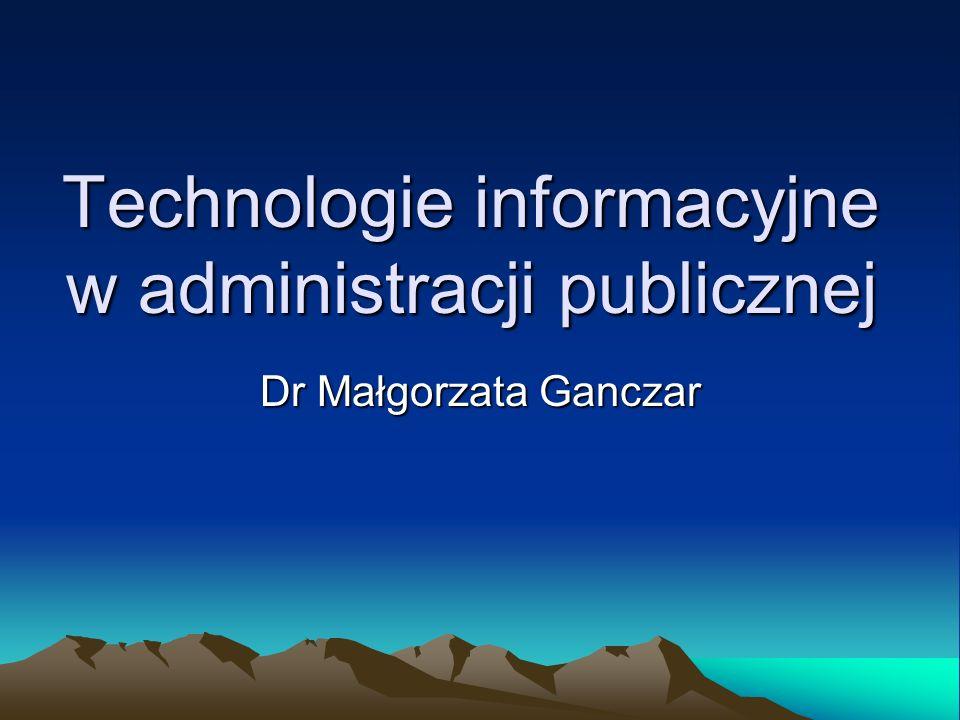 Technologie informacyjne w administracji publicznej