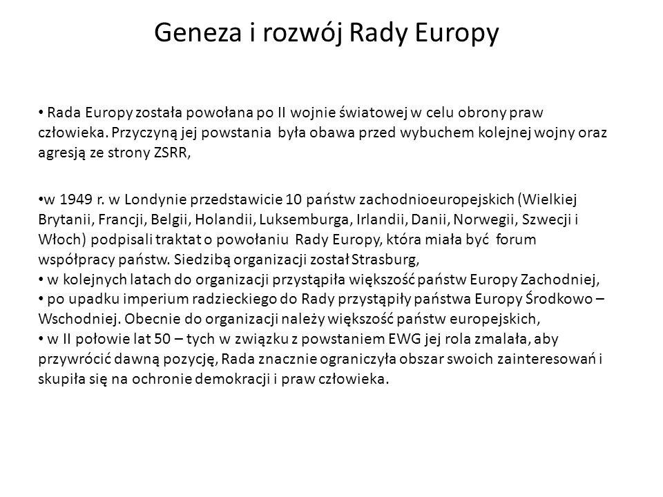 Geneza i rozwój Rady Europy