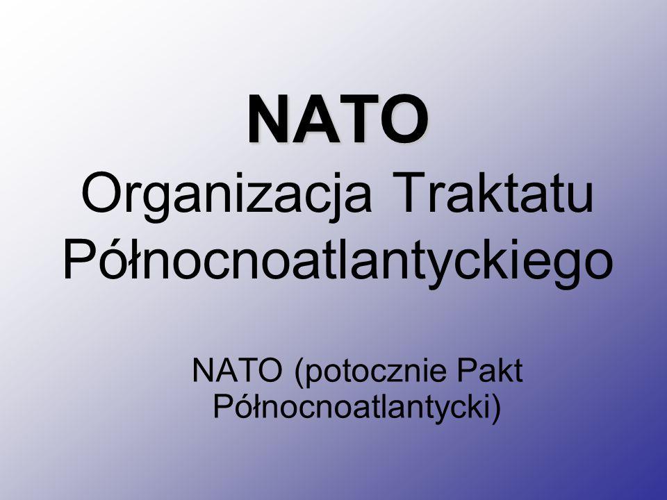 NATO Organizacja Traktatu Północnoatlantyckiego