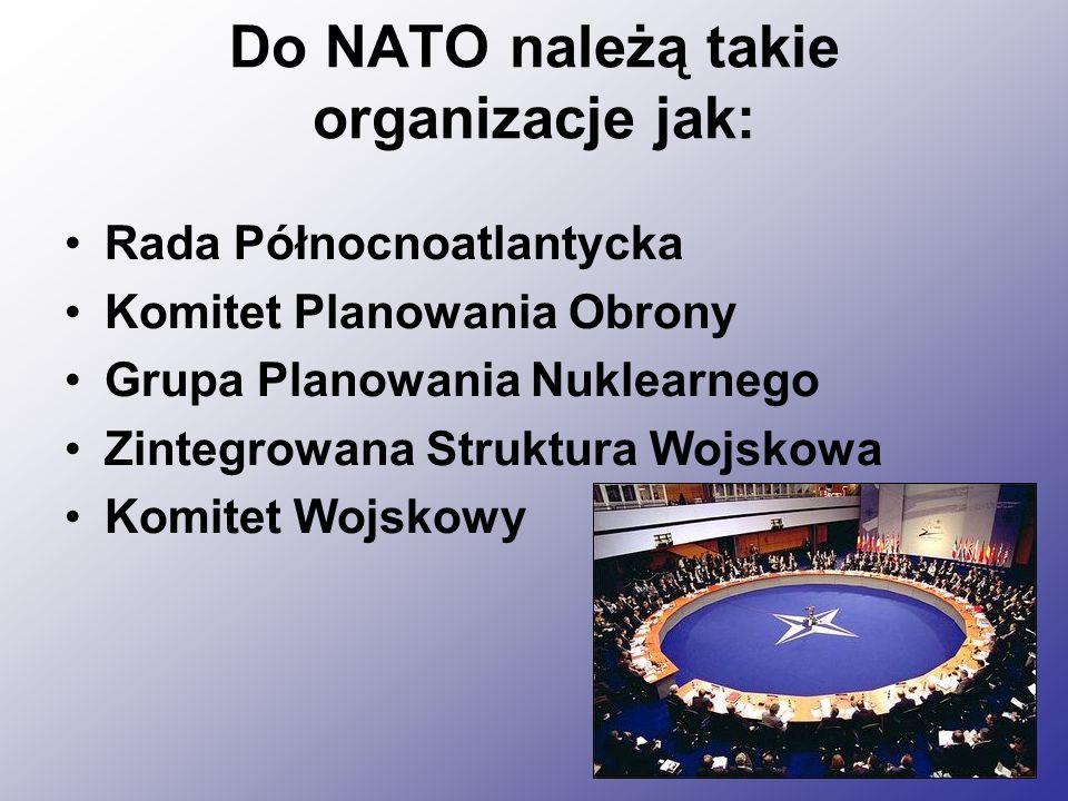 Do NATO należą takie organizacje jak: