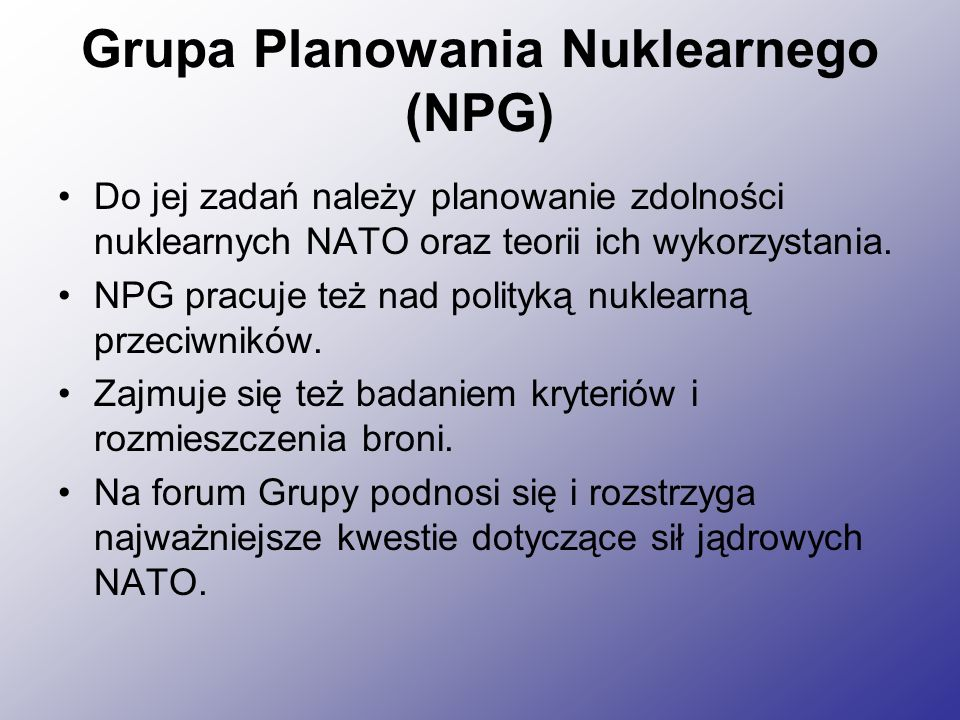 Grupa Planowania Nuklearnego (NPG)