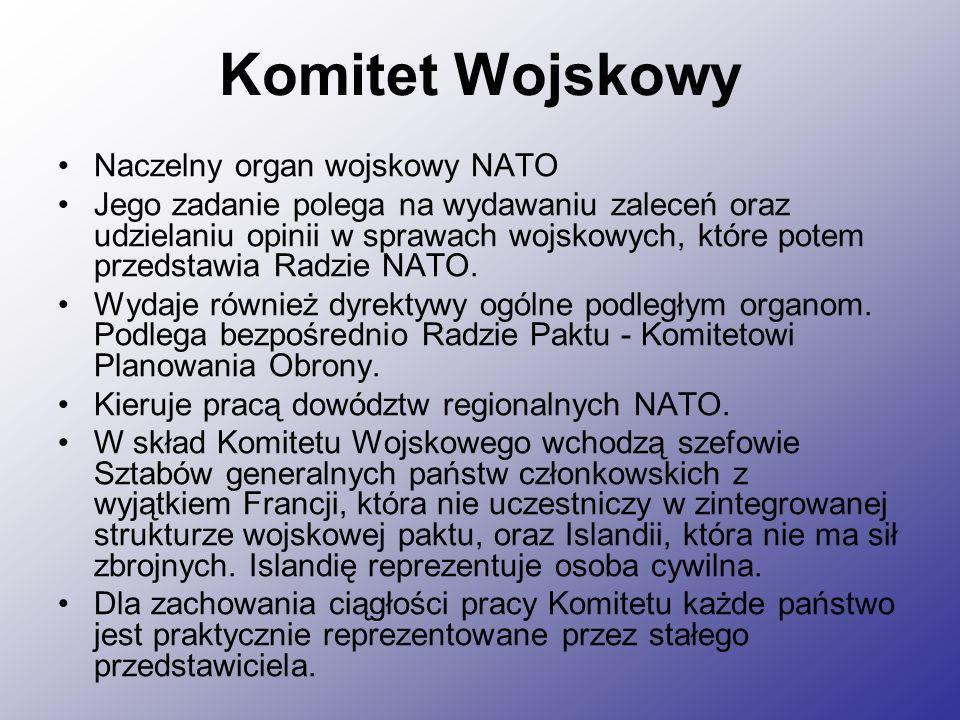 Komitet Wojskowy Naczelny organ wojskowy NATO