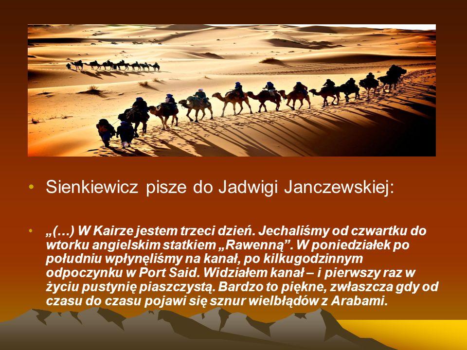 Sienkiewicz pisze do Jadwigi Janczewskiej: