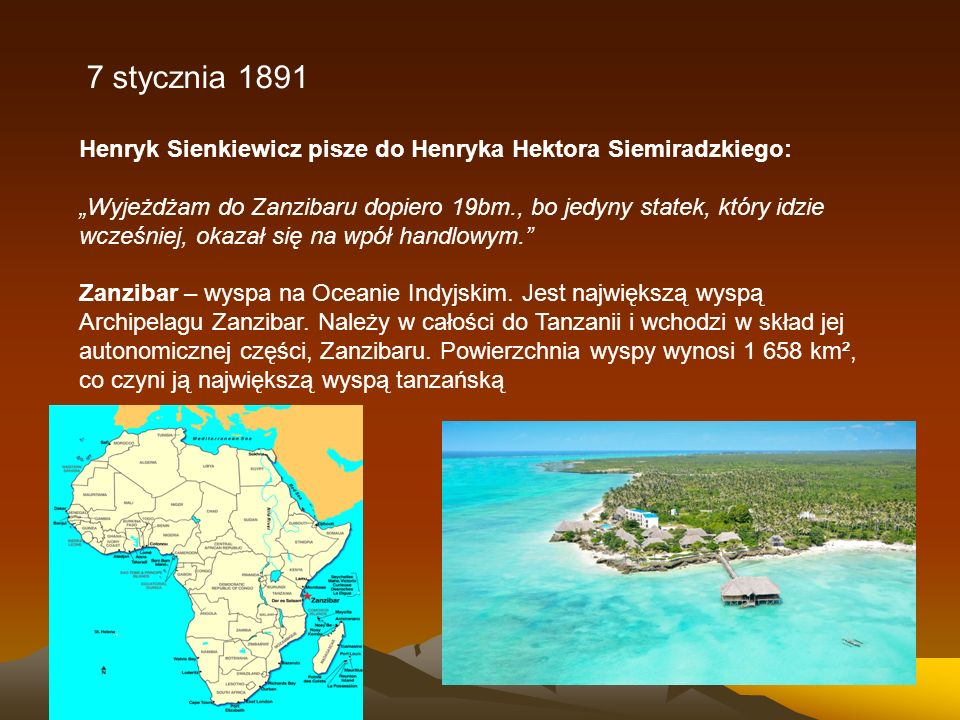 7 stycznia 1891 Henryk Sienkiewicz pisze do Henryka Hektora Siemiradzkiego: