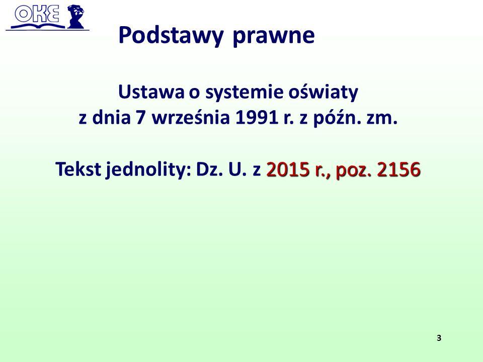 Ustawa o systemie oświaty z dnia 7 września 1991 r. z późn. zm.