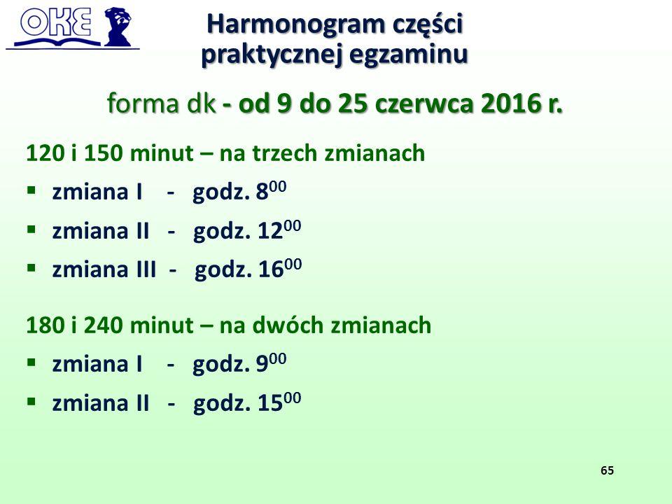 forma dk - od 9 do 25 czerwca 2016 r.