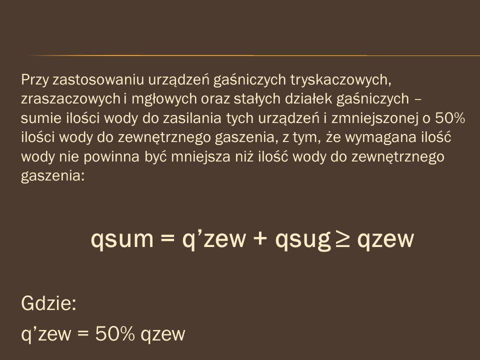 qsum = q'zew + qsug ≥ qzew