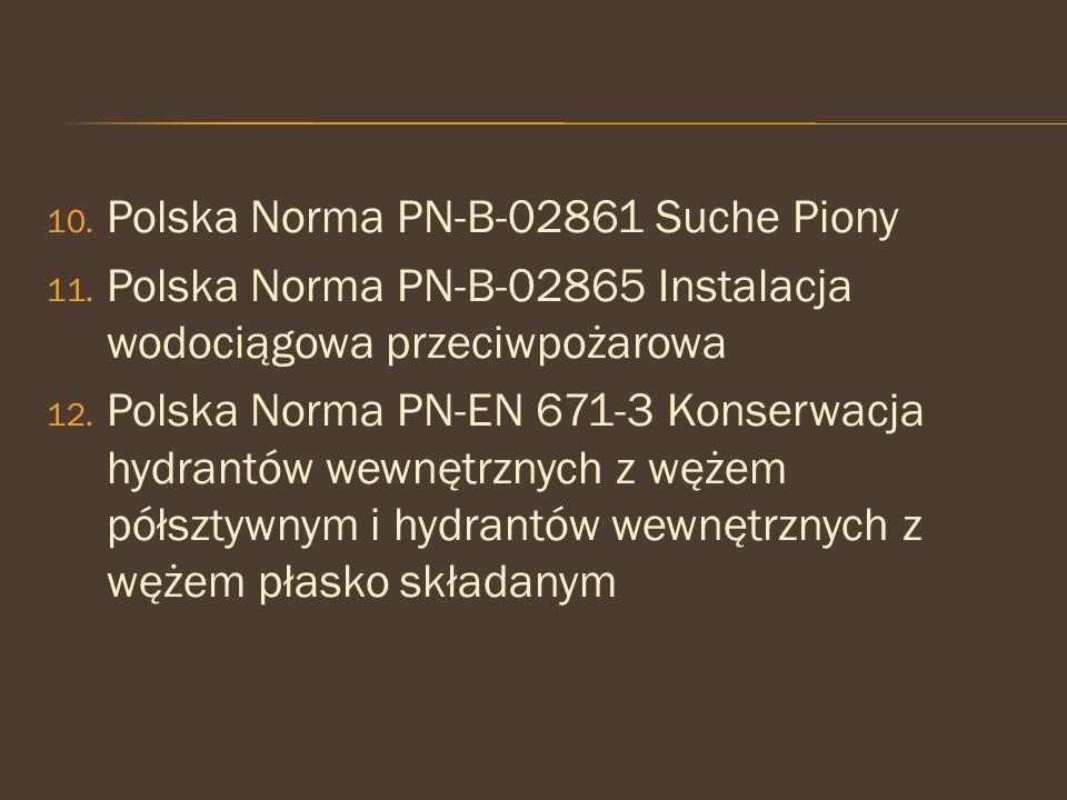 Polska Norma PN-B-02861 Suche Piony