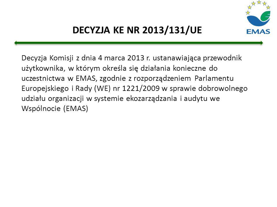DECYZJA KE NR 2013/131/UE