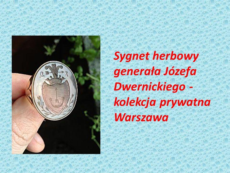 Sygnet herbowy generała Józefa Dwernickiego - kolekcja prywatna Warszawa