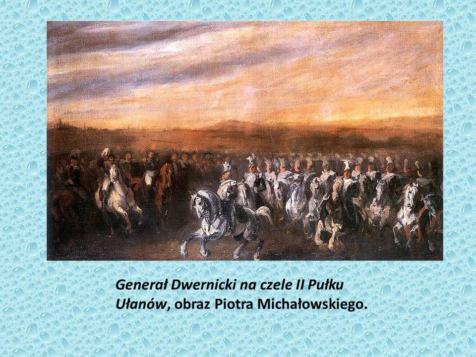 Generał Dwernicki na czele II Pułku Ułanów, obraz Piotra Michałowskiego.