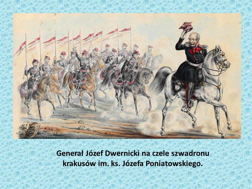 Generał Józef Dwernicki na czele szwadronu krakusów im. ks
